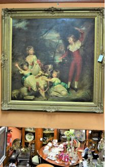 Large 18th century style oil painting