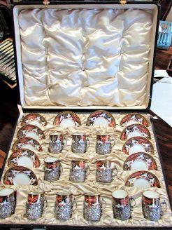 Cased set of royal crown derby