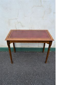 Oak leather top writing table