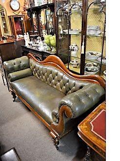 Victorian mahogany settee