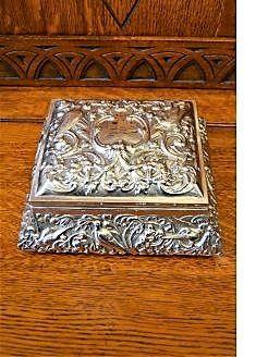 Silver jewellery casket