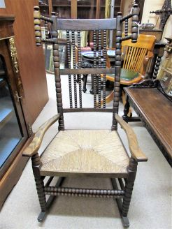 19th century oak rocking chair