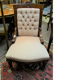 Victorian mahogany low chair