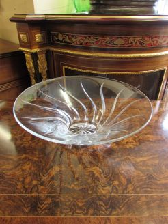 Large glass designer glass bowl