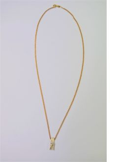 9ct gold chain & 14ct gold diamond pendant
