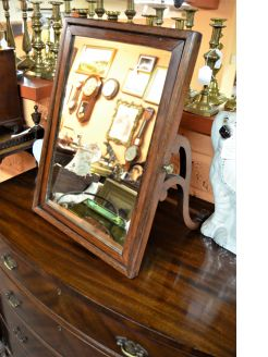 Oak framed dressing mirror