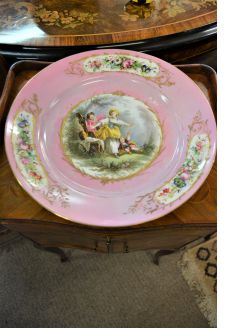 sevres style french porcelain plate