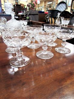 Set of six waterford crystal sundae dishes