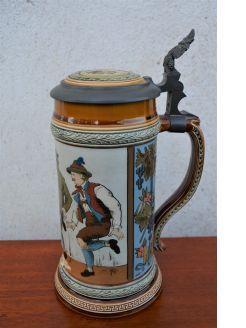 mettlach pottery jug / tankard (german)