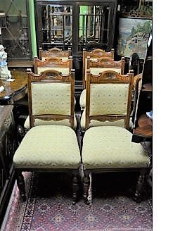 Set six late 19th century chairs