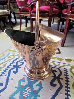 Victorian copper coal scuttle/bin