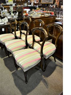 Set of six victorian mahogany chairs