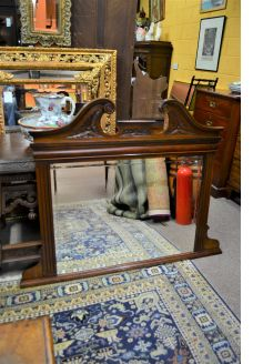 Edwardian mahogany over mantle mirror