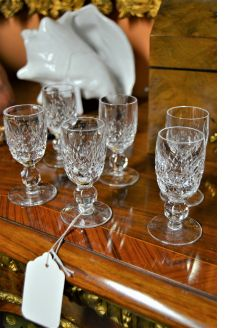 Set of six waterford liqueur glasses