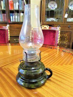 Victorian finger oil lamp