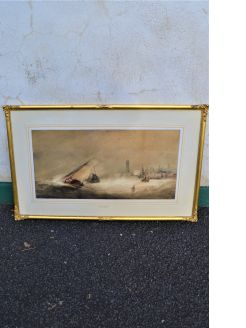 19th century watercolour in gilt frame
