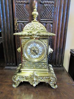 Victorian ornate breass clock