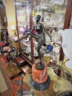 Art deco style bronze figure