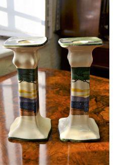 Pair of royal dolton candlesticks