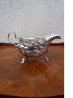 18th century irish silver sauce boat
