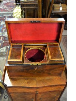 19th century mahogany tea caddy