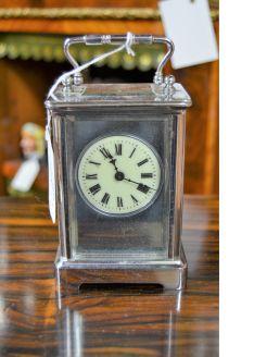 Chrome cased carraige clock