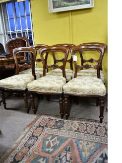 Set of six mahogany victorian chairs