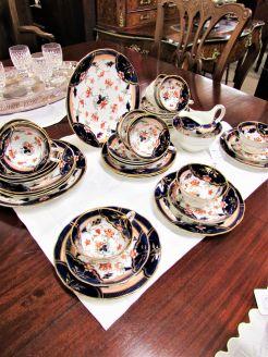 forty piece porcelain tea set