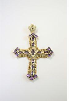 marcasite amethyst silver cross