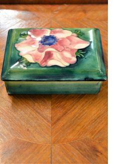 Moorecroft porcelain box
