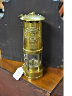 Old brass miners lamp