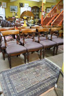 Set of eight William IV mahogany chairs