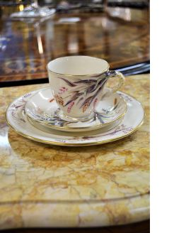 1st period belleek tea cup ,saucer and plate