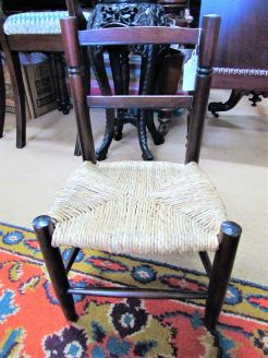 Miniature 19th century oak childs chair
