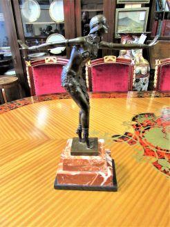 Art deco style bronze sculpture