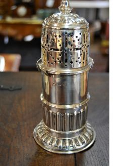 Victorian silver sugar castor