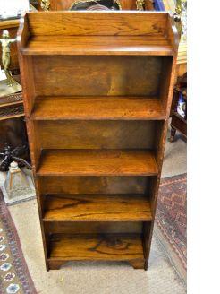 Standing oak floor bookcase