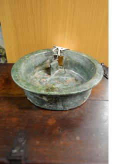 Chinese green glazed stoneware basin