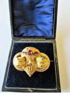 Victorian gold & amethyst brooch