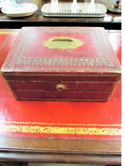 Victorian leather writing box / slope