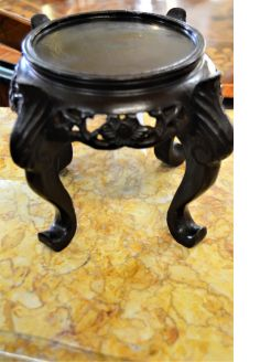 Carved chinese wooden stand