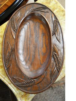 Carved wooden french bread board
