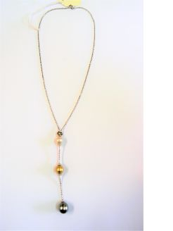 18ct gold ,pearl & diamond necklace