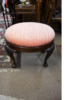 1920s mahogany stool