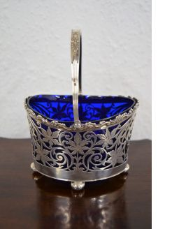 Silver sugar basket