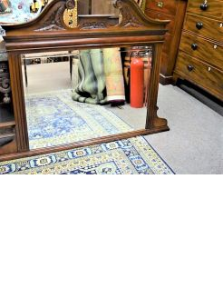 Edwardian mahogany over mantle mirror