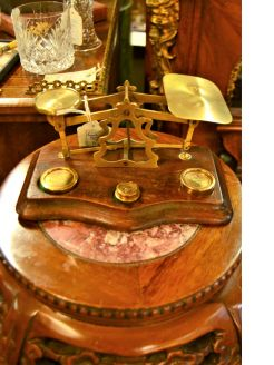 Set of 1920s postal scales