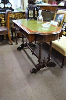 Victorian rosewood library table
