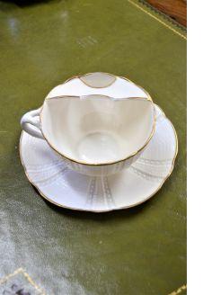 Belleek moustache cup & saucer