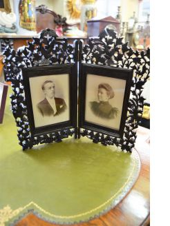 Carved oak picture frame